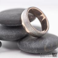 Columba red titan - Prsten z červeného zlata a titanu, produkt č. 831