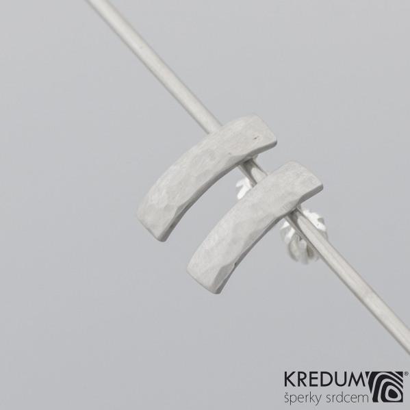 Moon Draill - Kované nerezové naušnice