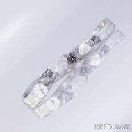 Kovaný nerezový snubní prsten - BG FOREVER