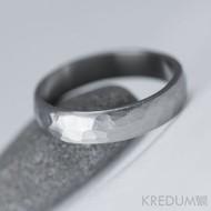 Kovaný nerezový snubní prsten - Klasik Draill
