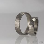 Prsten kovaný - Draill titan - matný a lesklý