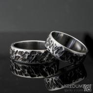 Archeos line - kované snubní prsteny S979 a S984