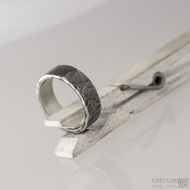 Archeos - Nerezové snubní prsteny - velikost 60, šířka 7 mm, tloušťka 1,8 mm, nepravidelné okraje - S1558 (2)