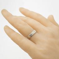 Archeos snubní prsten gold white (1)
