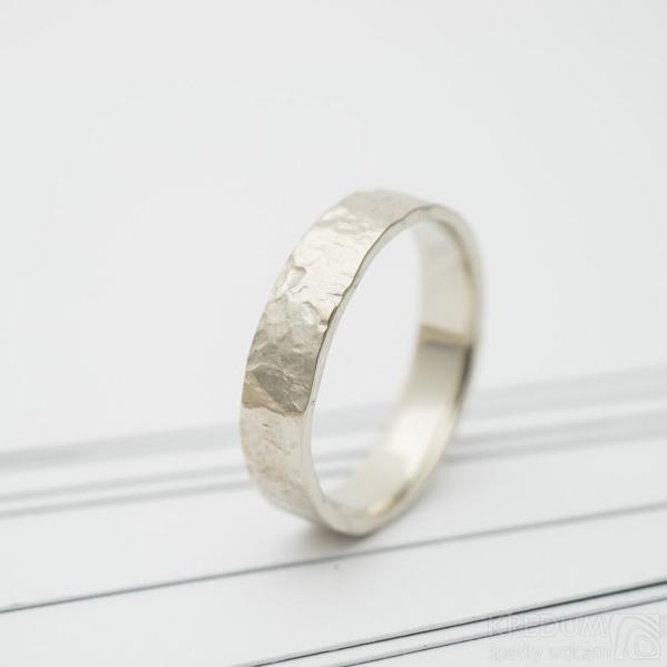 Archeos snubní prsten gold white (2)