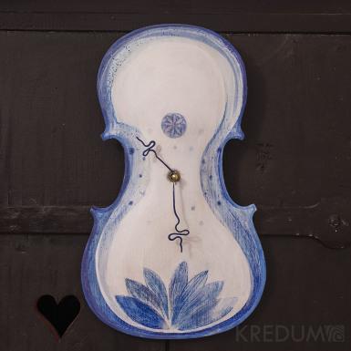 Časová harmonie - malované houslové hodiny