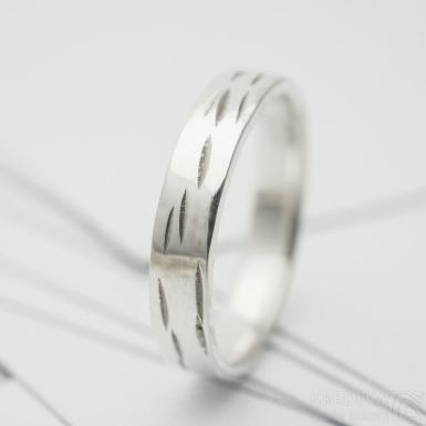 Betula snubní prsten stříbo (3)