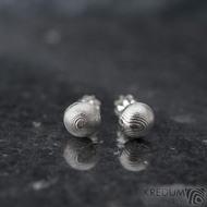 Buttonky - náušnice damasteel - k 1402 (3)