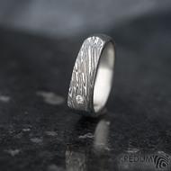 Cleans a čirý diamant 1,7 mm - velikost 54, šířka 5,5 do dlaně 4 mm, voda - lept extra - Damasteel snubní prsteny - k 1347 (2)