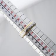 Cygnus yellow - Snubní prsteny nerezová ocel a zlato, SK1630, velikost 53,5 mm, šířka 4,5 mm