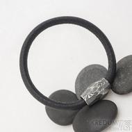 Damasteel korálek - Samuel náramek černý