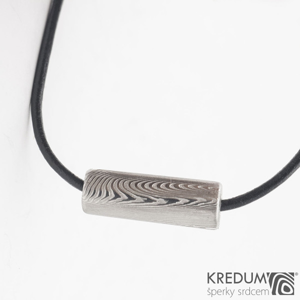 Damasteel korálek - Kovaný přívěsek, SK1244