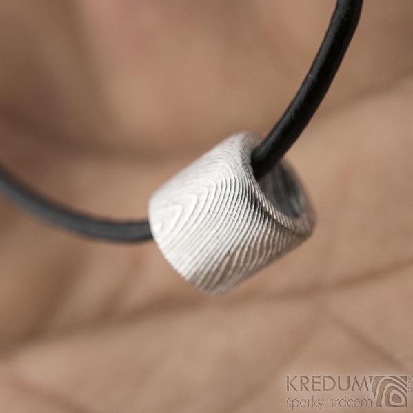 Damasteel minikorálek - Kovaný přívěsek, SK1593