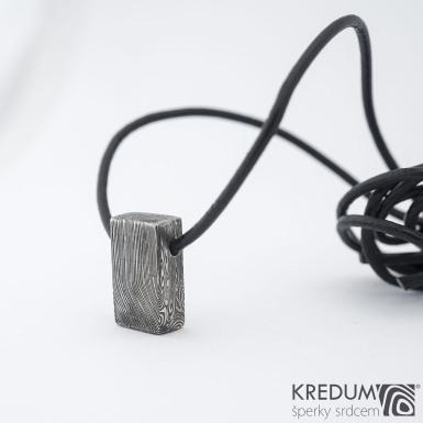 Kovaný damasteel přívěsek, SK1364
