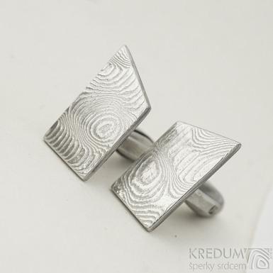 DESK - Kované manžetové knoflíčky damasteel - dřevo - produkt SK 2296