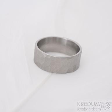 Draill Glanc - matný - Kovaný snubní prsten z nerezové oceli