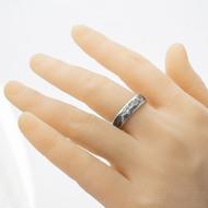 Draill line zatmavený - velikost 66, šířka 6 mm, tloušťka střední - Kovaný prsten z nerezové oceli - k 3200 (4)