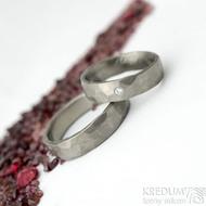 Draill titan a diamant 1,7 mm - matný- 51, šířka 5 mm a Draill titan matný 60, šířka 5 mm - Titanové snubní prsteny - k 1831