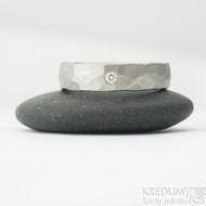 Draill titan matný a čirý diamant 2 mm - 57, šířka 5 mm - Titanové snubní prsteny, k 2015 (4)