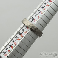 Draill titan matný - velikost 61, šířka 5 mm, tloušťka 1,8 mm - Kovaný prsten, SK2120 (2)
