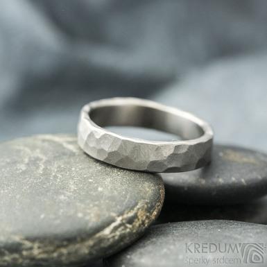 Draill titan matný - velikost 61, šířka 5 mm, tloušťka 1,8 mm - Kovaný prsten, SK2120 (5)