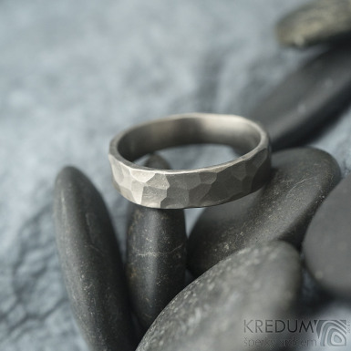 Draill titan matný - Kovaný prsten, SK1991