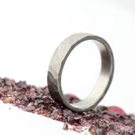 Draill titan matný - velikost 65, šířka 5,2 mm, tloušťka 1,7 mm - Kovaný prsten z titanu, SK2123 (5)