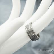 Draill tmavý - velikost 57,5; šířka 8 mm; tloušťka 1,8 mm - Nerezové snubní prsteny - sk1969 (2)
