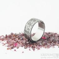 Draill tmavý - velikost 57,5; šířka 8 mm; tloušťka 1,8 mm - Nerezové snubní prsteny - sk1969 (4)