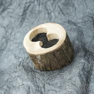 Dřevěná aranžovací miska na snubní prsteny - Jasan - SK2057 (2)