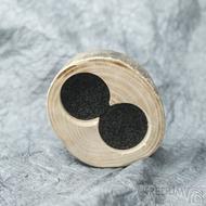 Dřevěná aranžovací miska na snubní prsteny - Jasan - SK2057 (3)