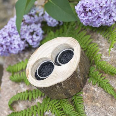 Dřevěná aranžovací miska na snubní prsteny - Jasan - SK2057