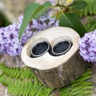 Dřevěná aranžovací miska na snubní prsteny - Jasan - SK2057 (7)