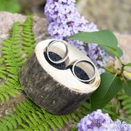 Dřevěná aranžovací miska na snubní prsteny - Jasan - SK2057 (8)