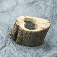Dřevěná aranžovací miska na snubní prsteny - SK2054 (2)