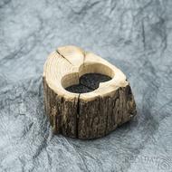 Dřevěná aranžovací miska na snubní prsteny - SK2054 (3)