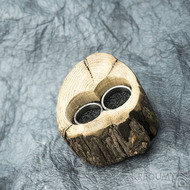 Dřevěná aranžovací miska na snubní prsteny - SK2054 (4)