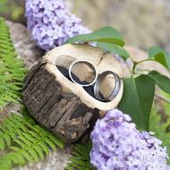 Dřevěná aranžovací miska na snubní prsteny - SK2054 (5)