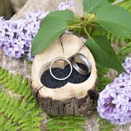 Dřevěná aranžovací miska na snubní prsteny - SK2054 (7)