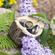 Dřevěná aranžovací miska na snubní prsteny - SK2054 (8)