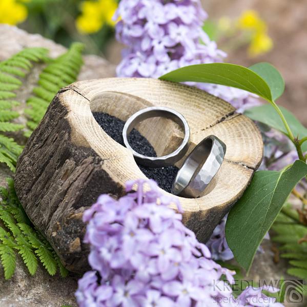 Dřevěná aranžovací miska na snubní prsteny - SK2054 (9)