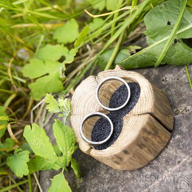 Dřevěná aranžovací miska na snubní prsteny - SK2055