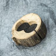 Dřevěná aranžovací miska na snubní prsteny - SK2056 (2)