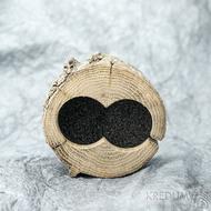Dřevěná aranžovací miska na snubní prsteny - SK2056 (3)