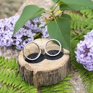 Dřevěná aranžovací miska na snubní prsteny - SK2056 (4)