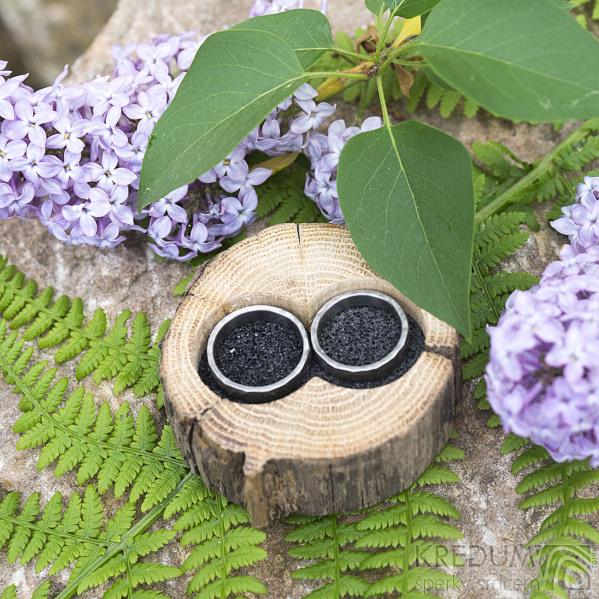 Dřevěná aranžovací miska na snubní prsteny - SK2056 (6)