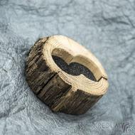 Dřevěná aranžovací miska na snubní prsteny - SK2056
