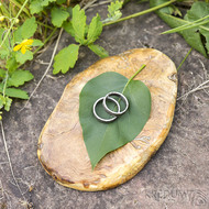 Dřevěná aranžovací podložka na snubní prsteny - Jehličnaté dřevo - SK2094 (3)