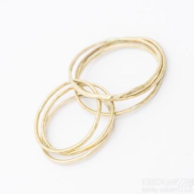 Golden Plain draill yellow - Zlatý snubní prsten