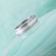 Duori Klasik Silver - 56, šířka 6,1 mm, tloušťka 2 mm - Nerezový snubní prsten a stříbro - SK2333 (6)